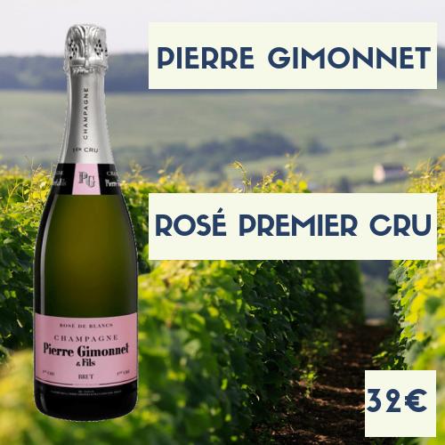 6 bouteilles Champagne Pierre Gimonnet 1er cru Rosé (32€)