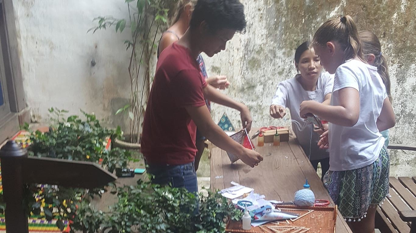 Hoi An folding lantern making class