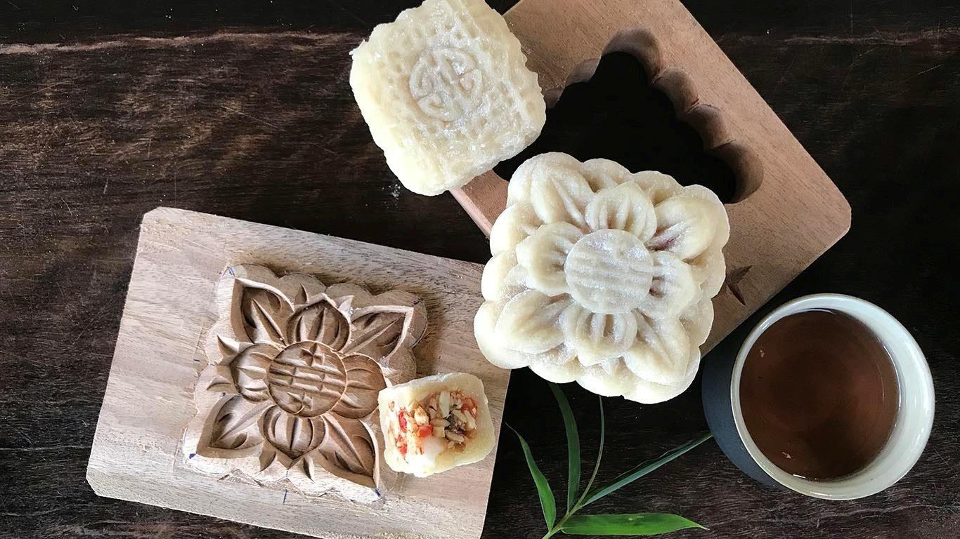 Making Vietnamese traditional treats