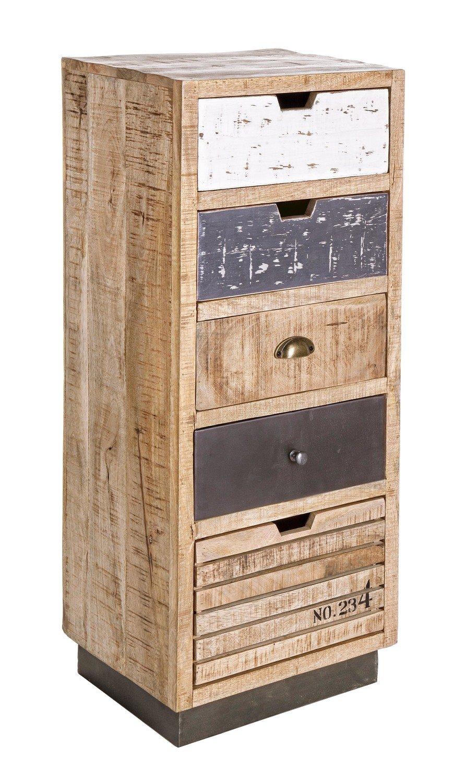 Mueble 5 cajónes 45x35x110 cm. VINTAGE