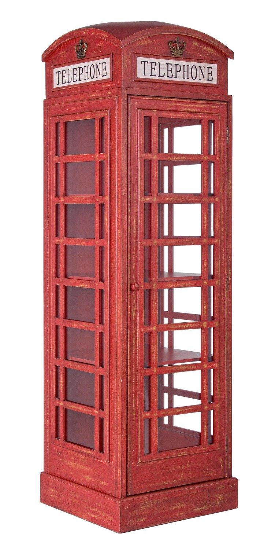Vitrina/Libreria Red Cabin Vintange 53x52x 180cm. altura.