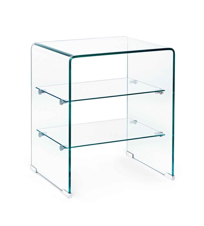Mueble auxiliar en Vidrio templado 40x40x60cm.
