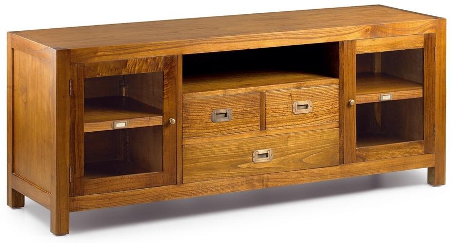 Mueble tv colonial de medidas 150x45x60h