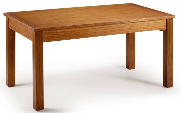 La mesa de comedor colonial rectangular extensible