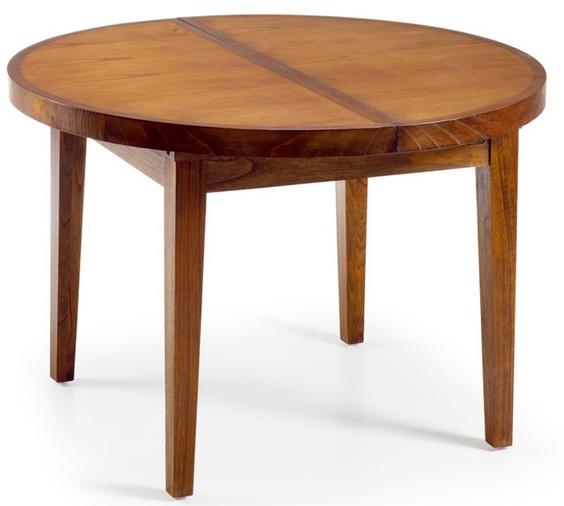 La mesa redonda de comedor extensible