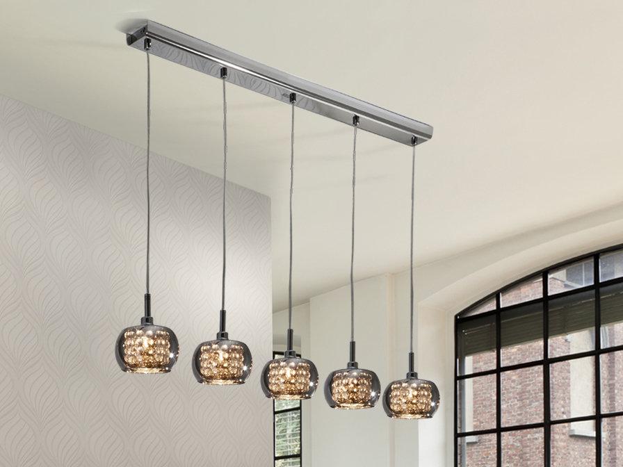 LAMPARA COLGANTE CON 5 FOCOS / LUCES LED