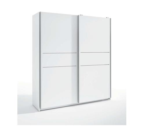 Armario 2 puertas en blanco, Medida: Ancho 182x Fondo 54cm x Alto 2,01.