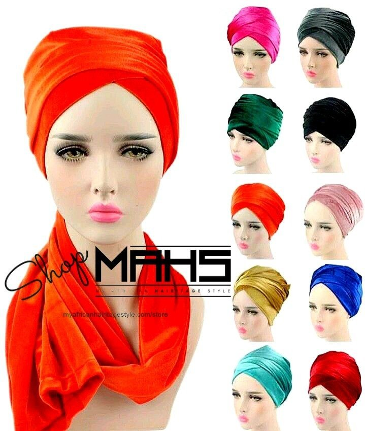 MAHS LUXURY VELVET CAP TURBAN with leaf Brooch