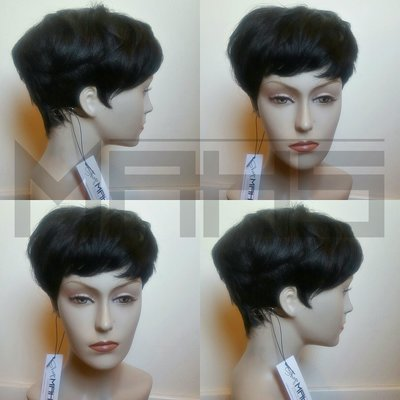 Pixie Cut Wig plus 27 Piece Human Hair (Onos)