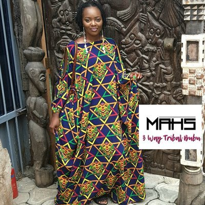 MAHS 3 Way Tribal Bubu Dress