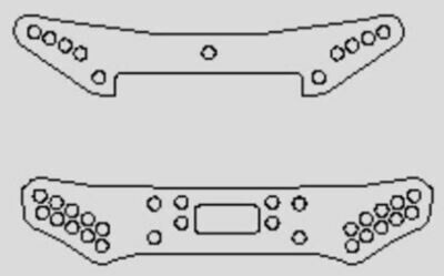 Hot Bodies D418 Buggy Kevlar Shock Tower Set