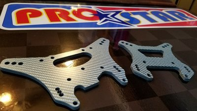 Blue kevlar Composite Towers fits Losi TLR 5iveT