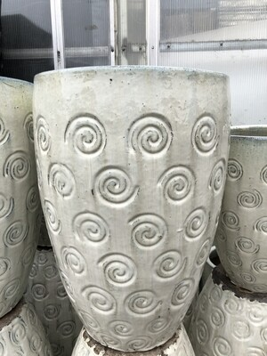 White Swirl Ceramic Pot
