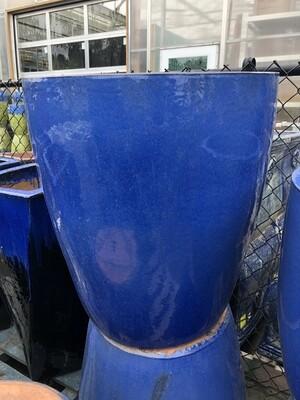 Smooth Blue Ceramic Pot