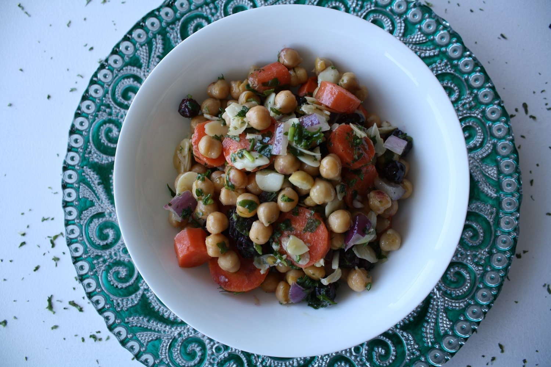 (L) Moroccan Carrot & Chick Pea Salad