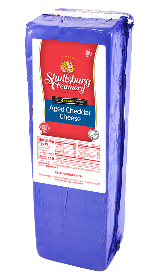 4 Year AGED CHEDDAR CHEESE (by pound)