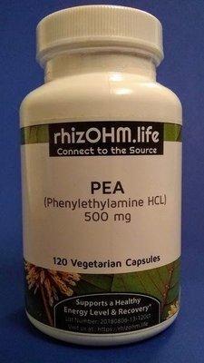 Phenylethylamine HCL (PEA) 120 x 500 mg Veggie Caps