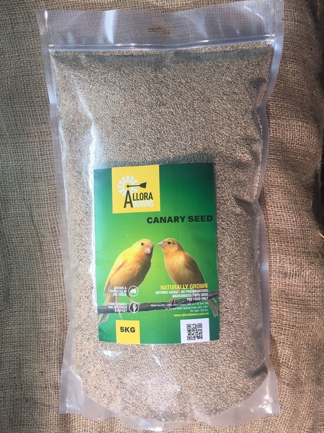 Allora Downs Canary seed 5kg