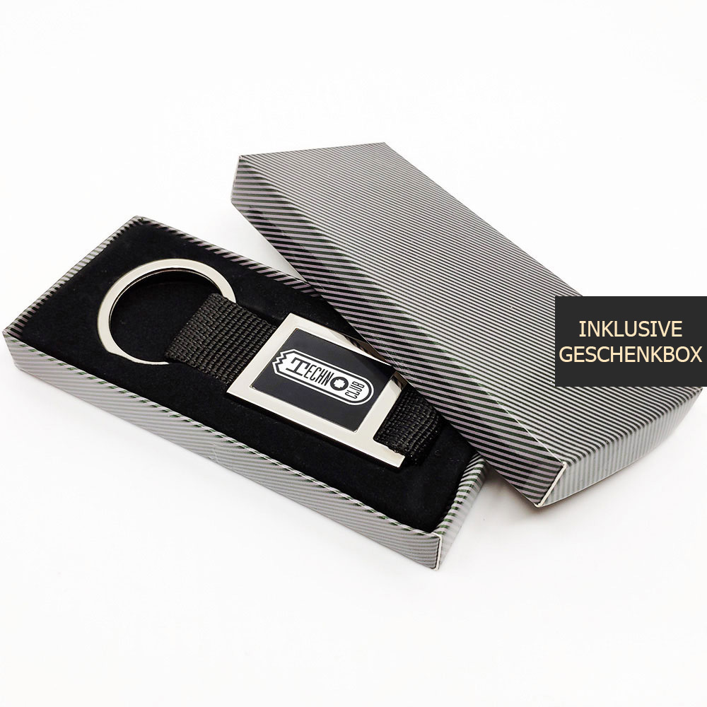 Technoclub Schlüsselanhänger mit Gurtband [NEW 2019] 91990