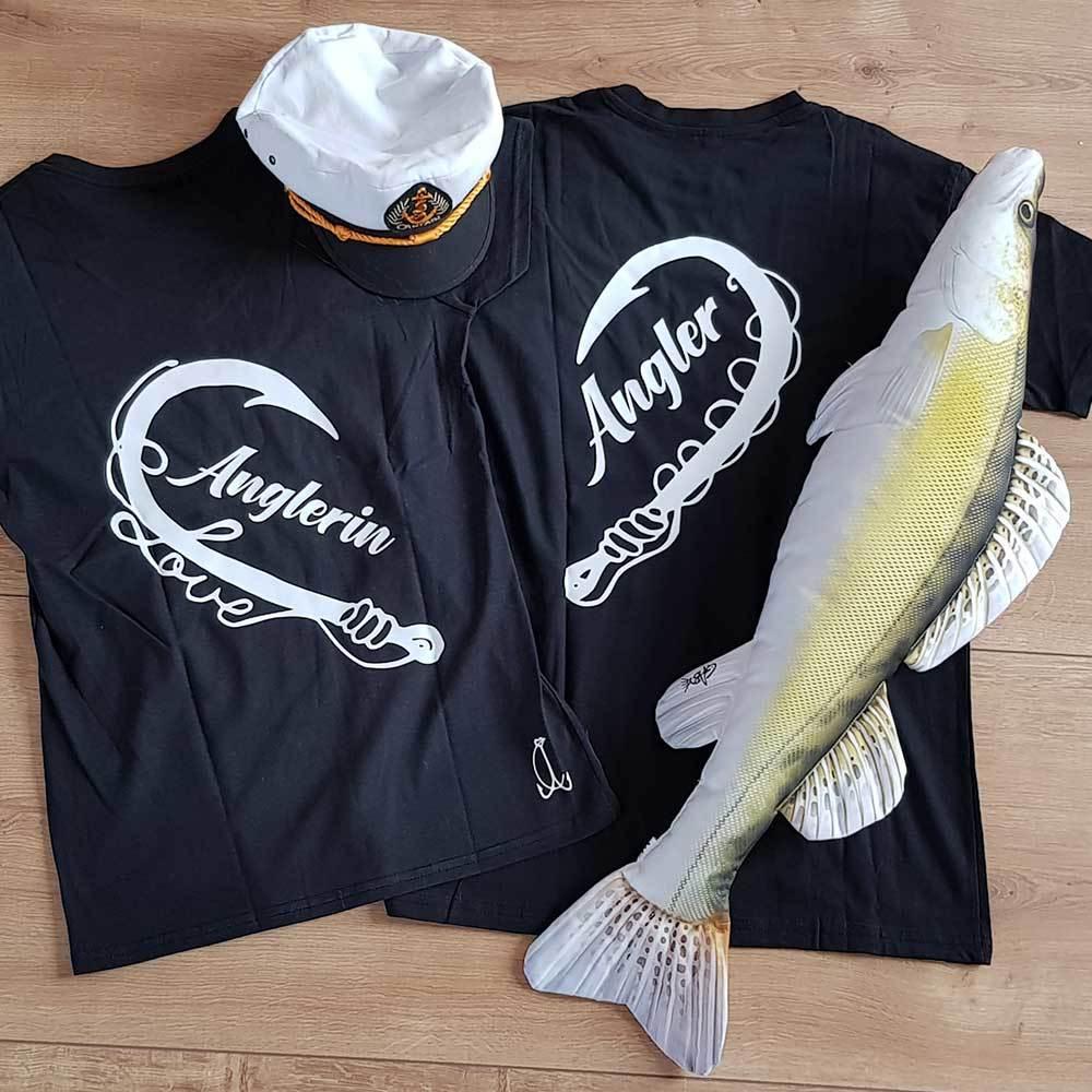 """Anglerin & Angler"" T-Shirt Partnerset M1-AA 98832"