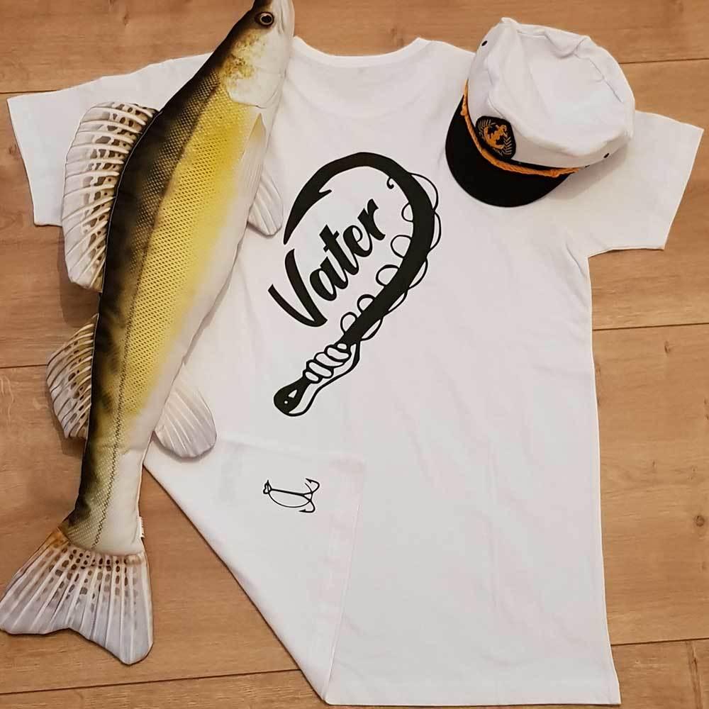 """Angler & Angler / Vater & Sohn"" T-Shirt Partnerset (Kindergröße 90 bis XXXL)"