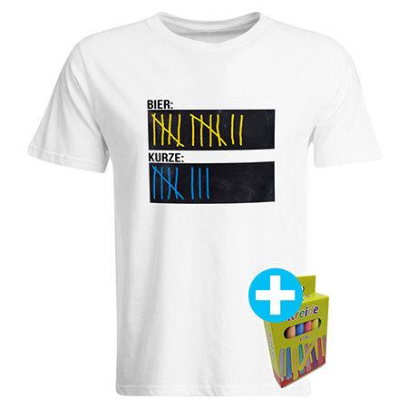 Original Sauf-Counter Classic T-Shirt (Herren Weiß) 92028