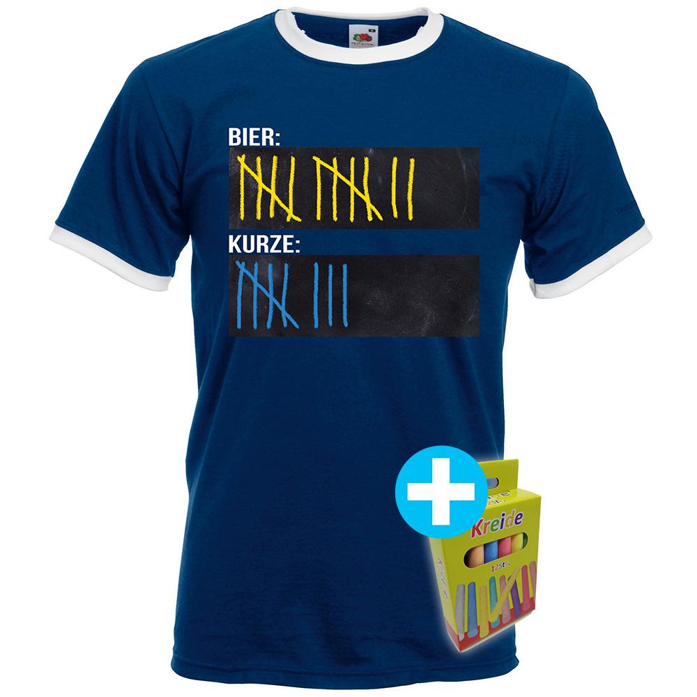 Original Sauf-Counter T-Shirt Sport Edition (Herren Navy) 92041
