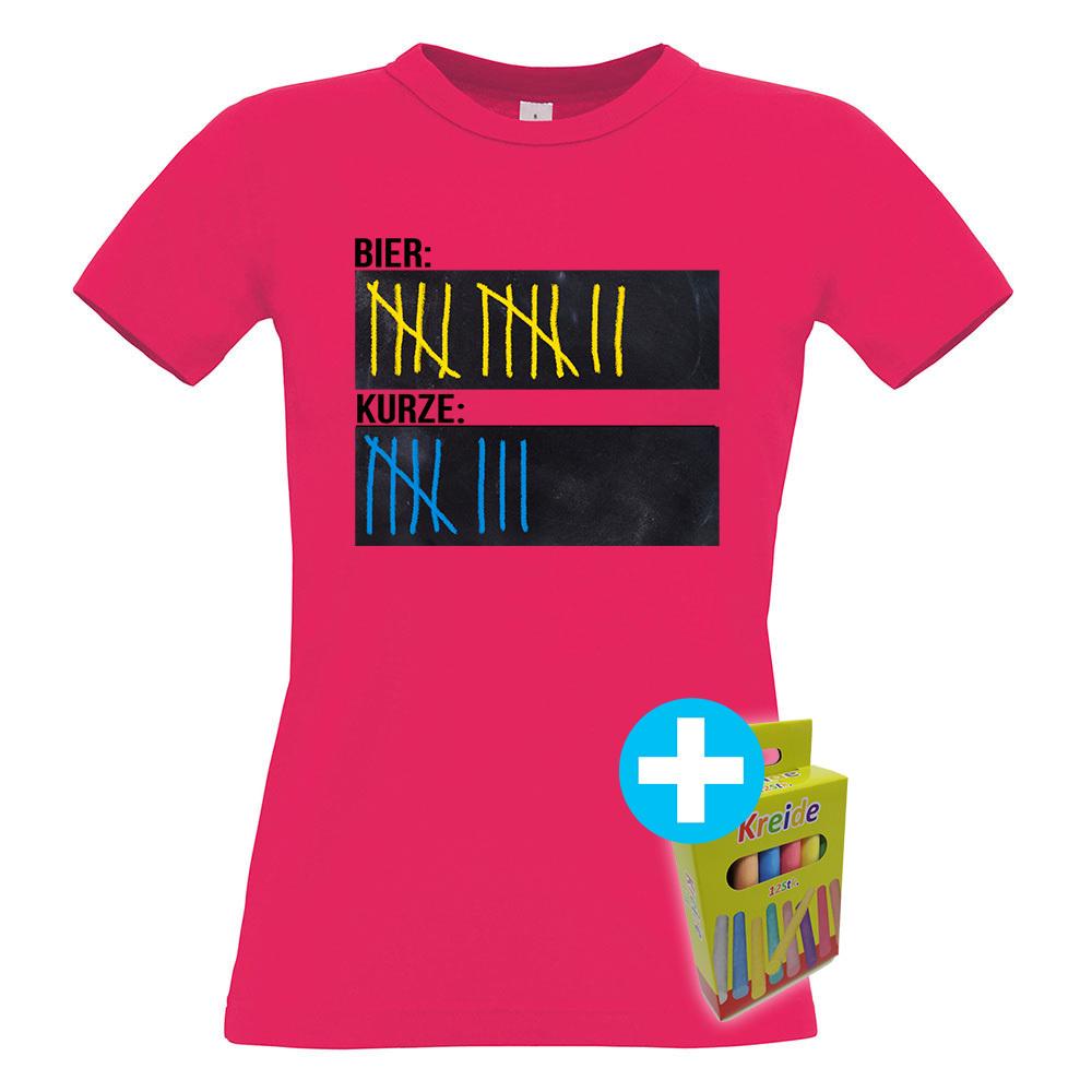 Original Sauf-Counter Classic T-Shirt (Damen Rundhals, Farbe Sorbet) 92045