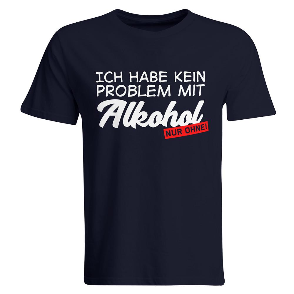 """""""Sauf-Counter"""" T-Shirt + """"Ich habe kein Problem mit Alkohol - nur ohne"""" T-Shirt (Herren)"""