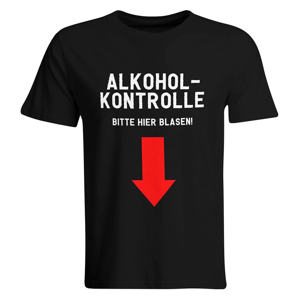 """""""Sauf-Counter"""" T-Shirt + """"Alkoholkontrolle - Bitte hier blasen"""" T-Shirt (Herren)"""