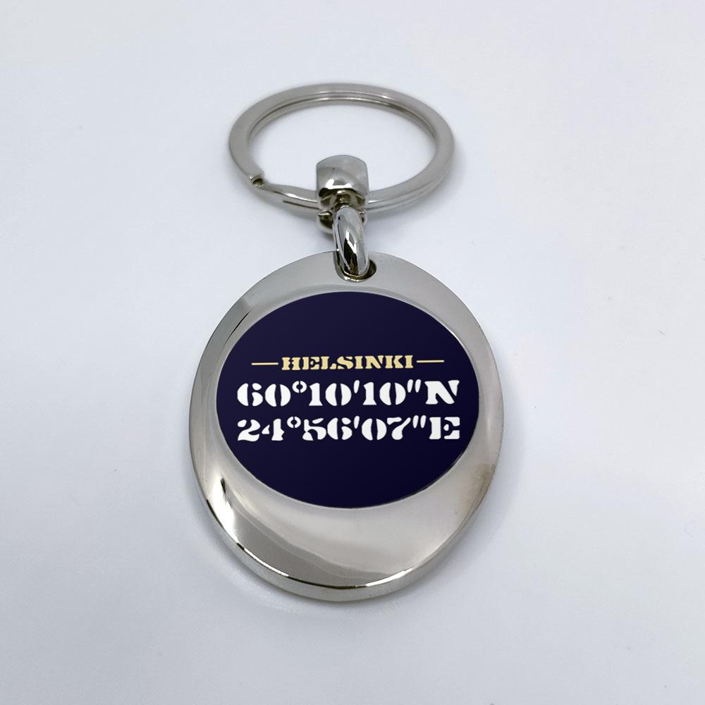 """""""Helsinki"""" Schlüsselanhänger mit integriertem Einkaufswagen-Chip 92114"""