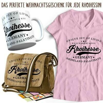Rhoihesse Xmas 2019 Geschenkset für Damen (Vintagetasche, T-Shirt & Tasse)