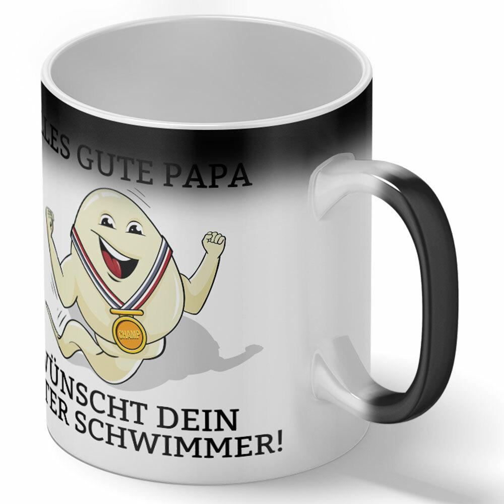 """""""Alles Gute Papa wünscht dein bester Schwimmer"""" Spermium Tasse (Verschiedene Varianten)"""