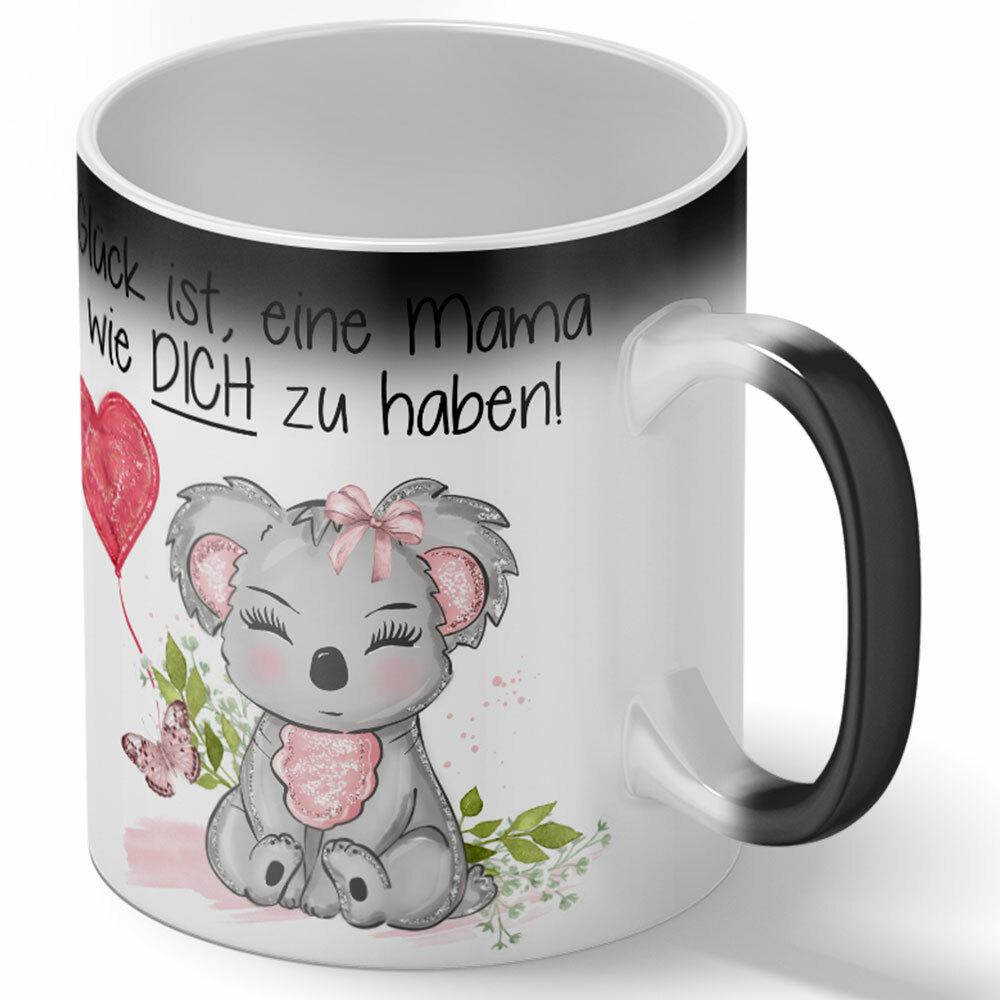 """""""Glück ist, eine Mama wie dich zu haben!"""" Tasse (Variante: Zaubertasse mit Farbwechseleffekt) 92147"""
