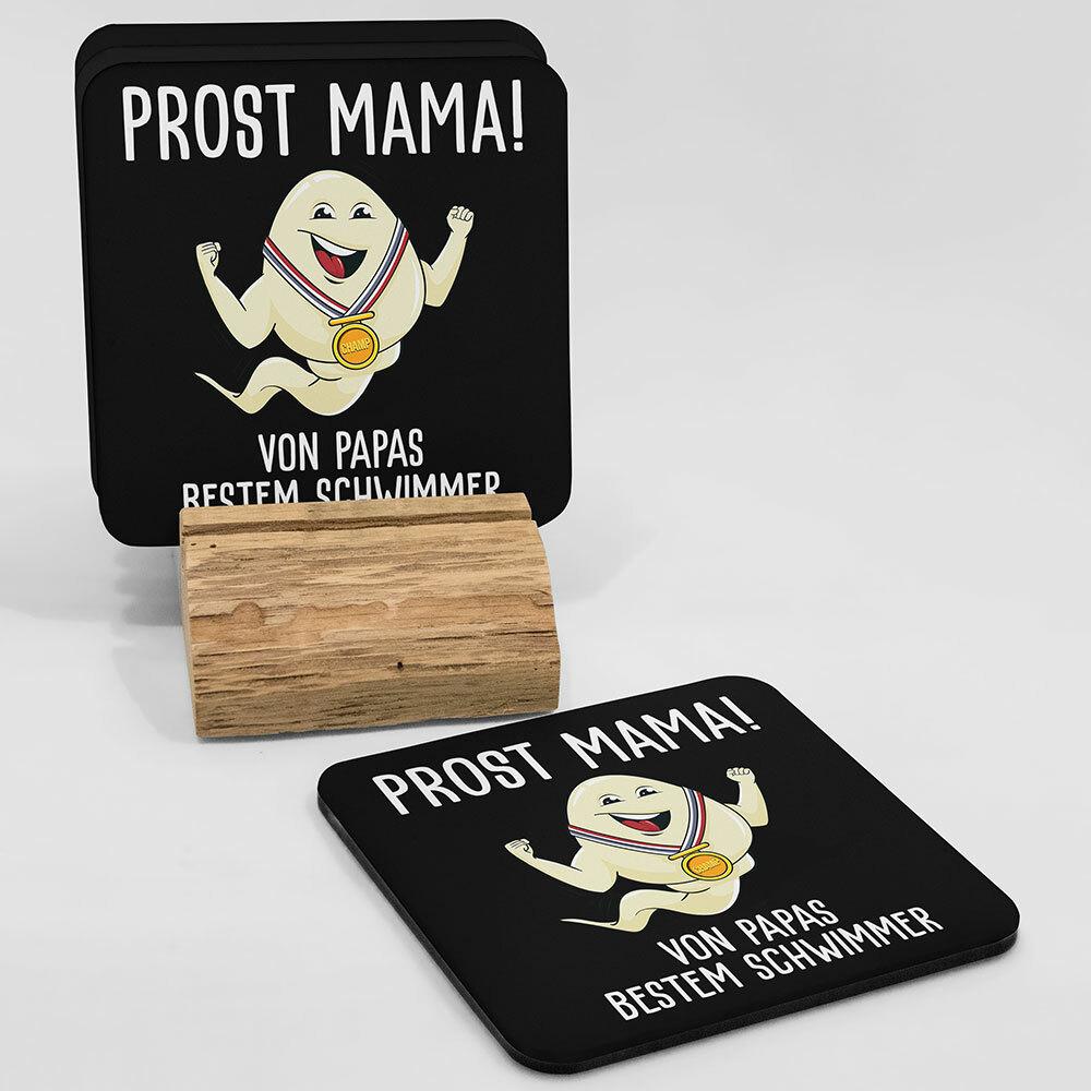 """""""Alles Gute Mama wünscht Papas bester Schwimmer"""" Spermium Tasse (Variante: Zaubertasse mit Farbwechseleffekt)"""