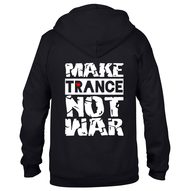 Make Trance not war (Unisex Sweatjacket) 00017