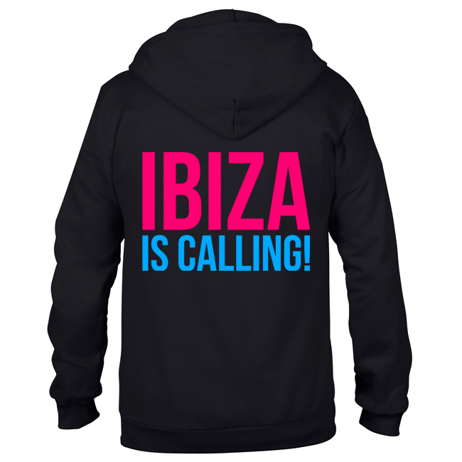 Ibiza is calling! (Unisex Sweatjacket) 00047
