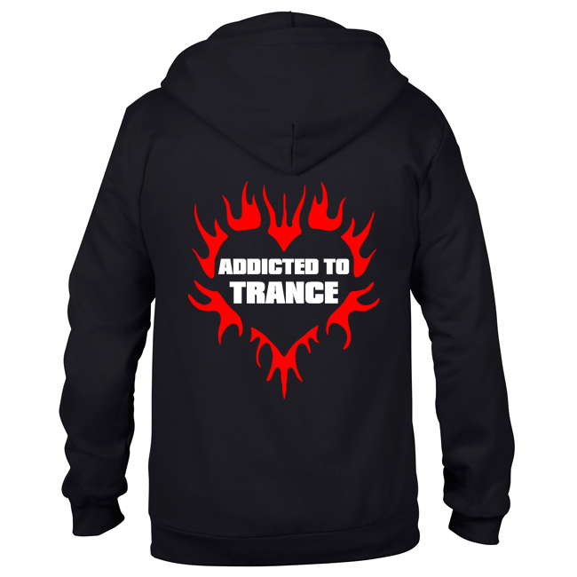 Addicted to Trance (#trancefamily Unisex Sweatjacket) M1-TFC  00086