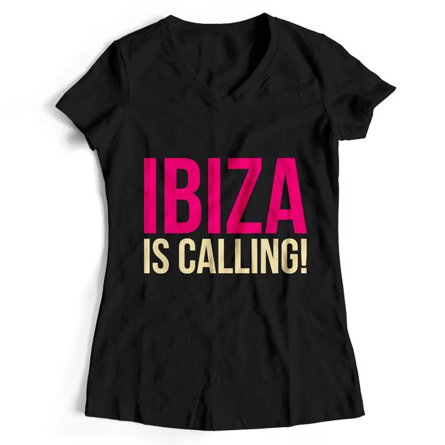 Ibiza is calling! (#trancefamily T-Shirt Women) M1-TFC  00070