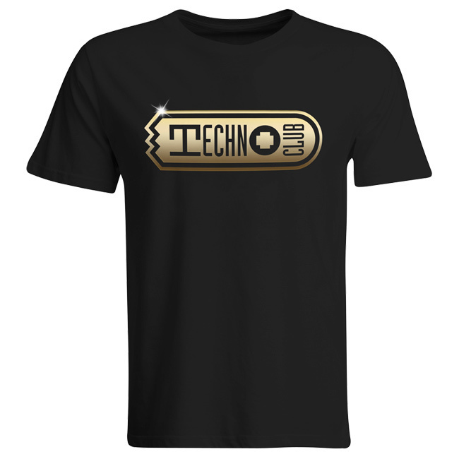 "Technoclub Shirt ""Golden Edition"" with Backprint (Men) 00144"