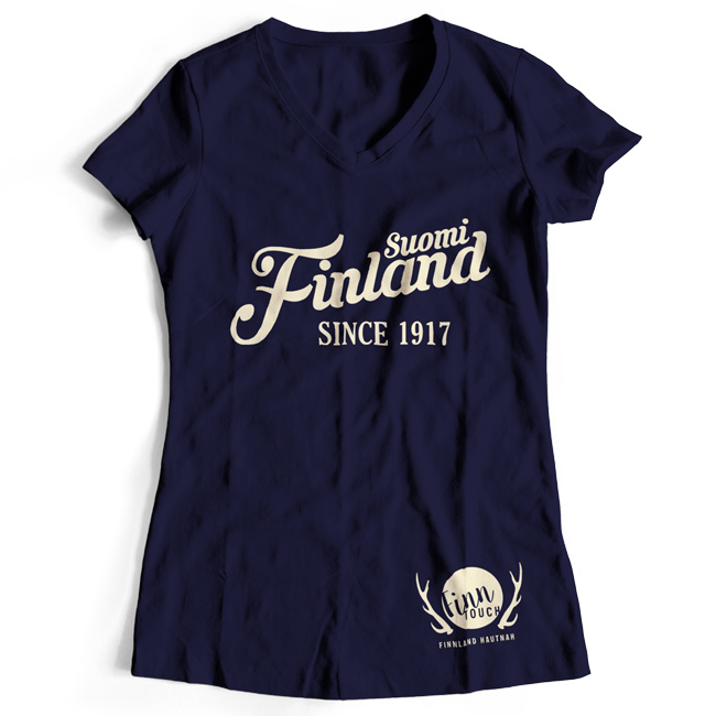 "Girlieshirt ""Suomi Finland - since 1917"" M1-FT 00159"