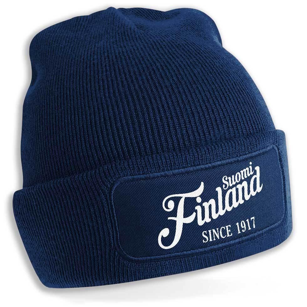 """""""Suomi Finland - since 1917"""" Beanie (Original Beechfield Headwear) M1-FT 00163"""