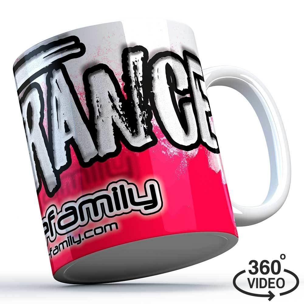 """M1-TFC  """"I love Trance"""" Trancefamily Keramiktasse/Mug (Pink Edition) M1-TFC  11122"""