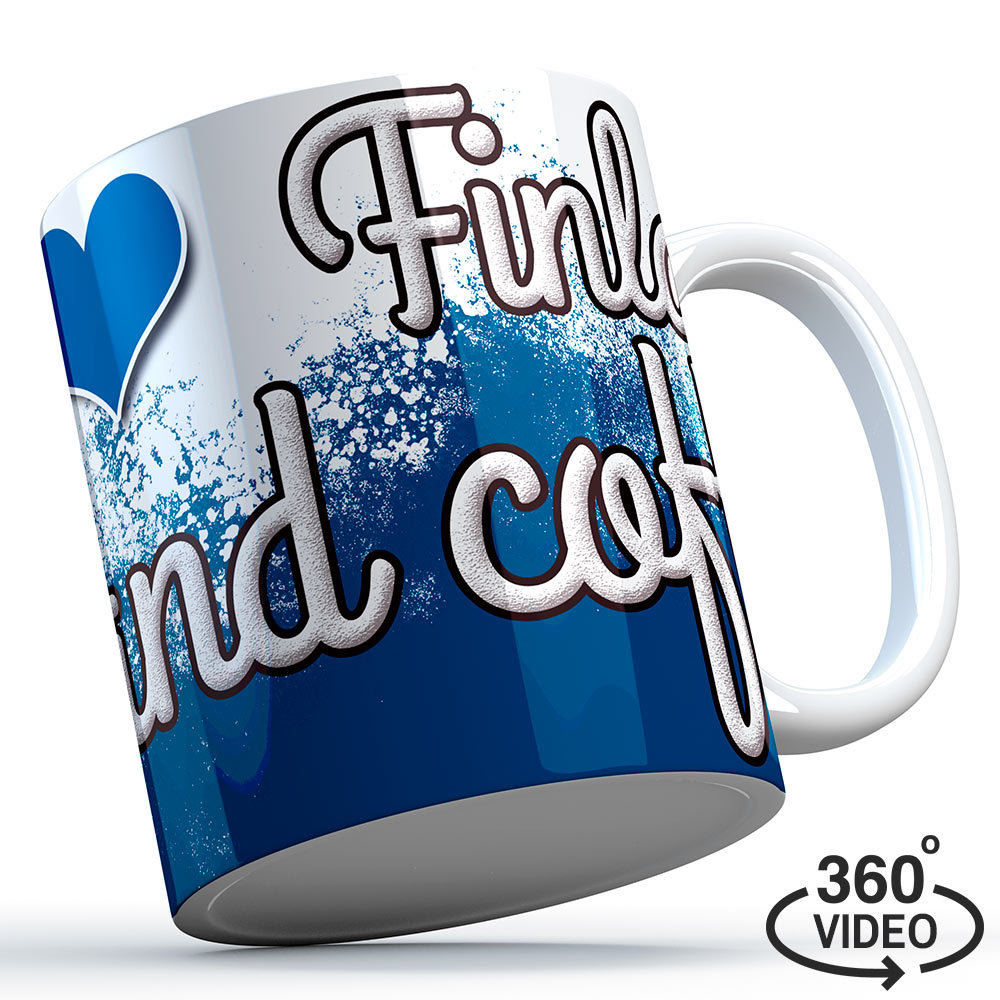 """Finnland Tasse """"I love Finland... and coffee"""" M1-FT 11133"""
