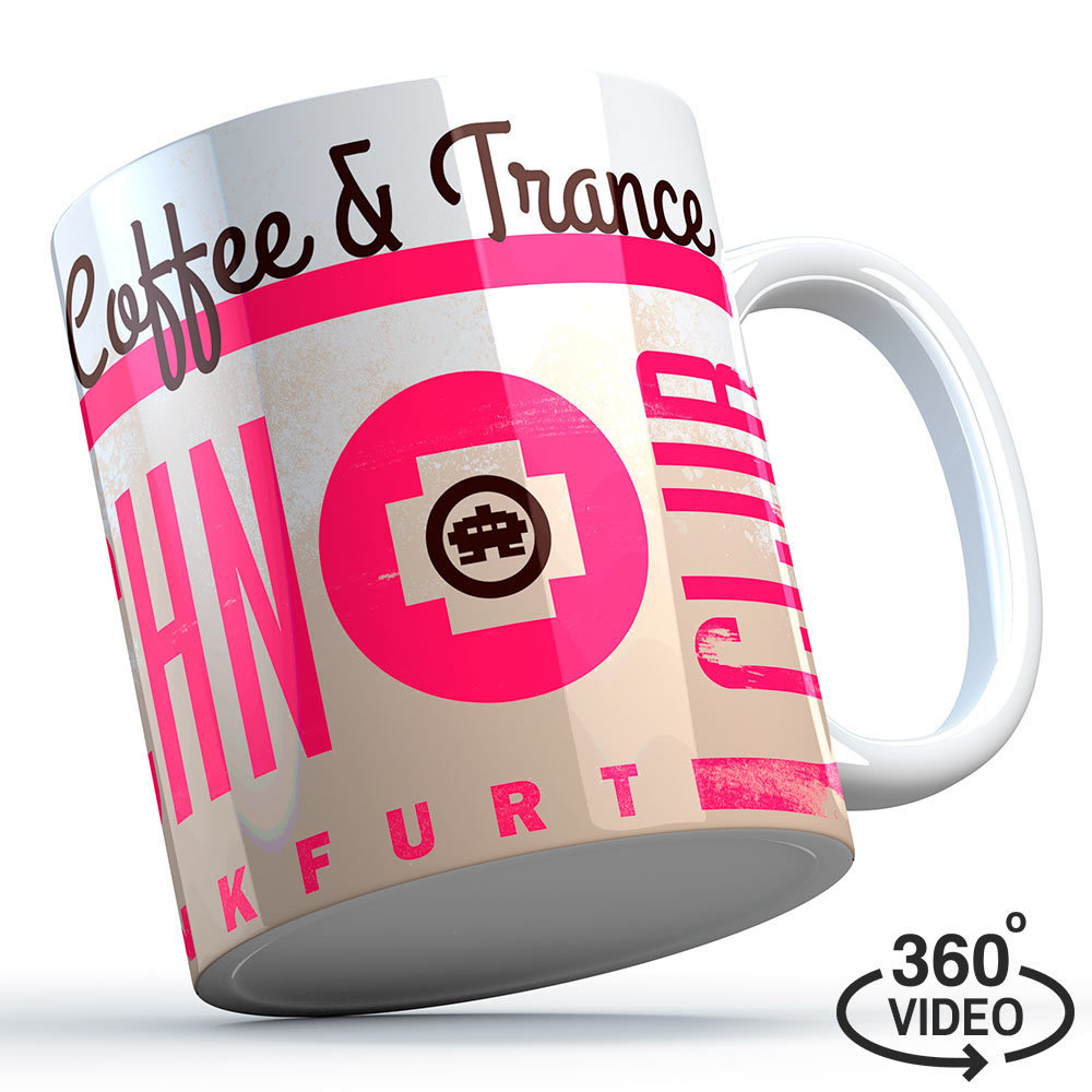 "Technoclub Tasse ""Addicted to Coffee & Trance"" 11134"