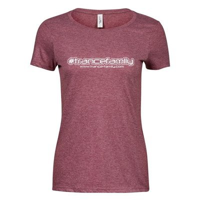 Premium Melange T-Shirt (#trancefamiy, Women)