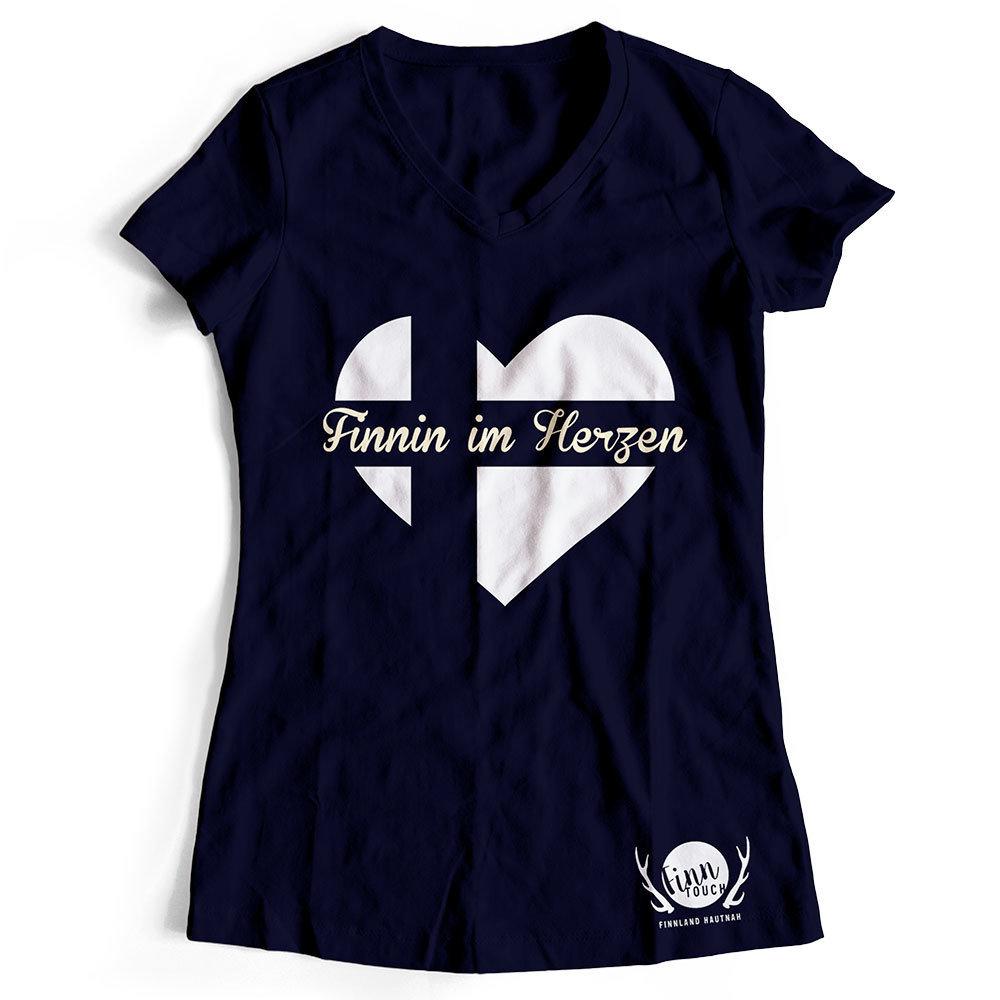 """""""Finnin im Herzen"""" T-Shirt (Women) M1-FT 11181"""