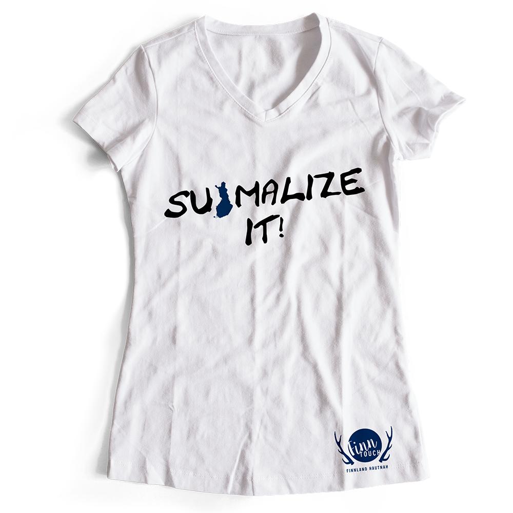 """Suomalize it!"" T-Shirt (Women) M1-FT 11183"