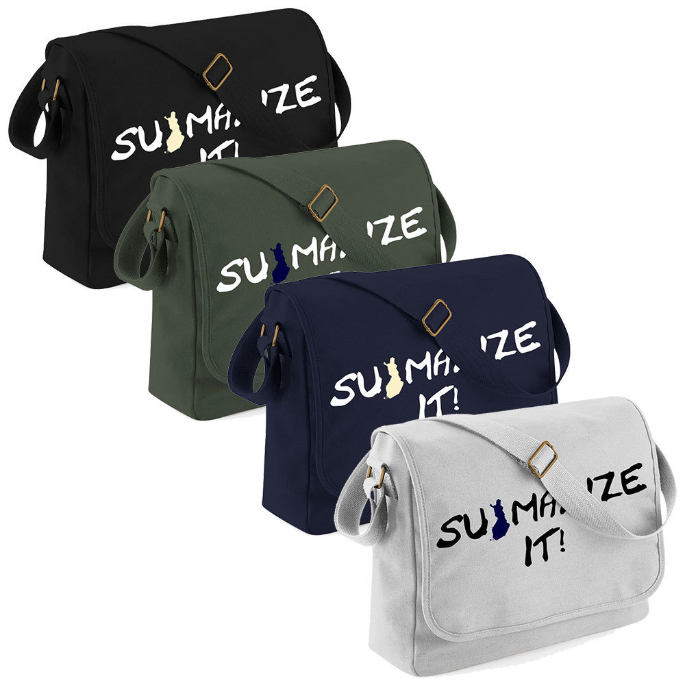 """Suomalize it!"" Canvas Messenger Bag M1-FT 11191"