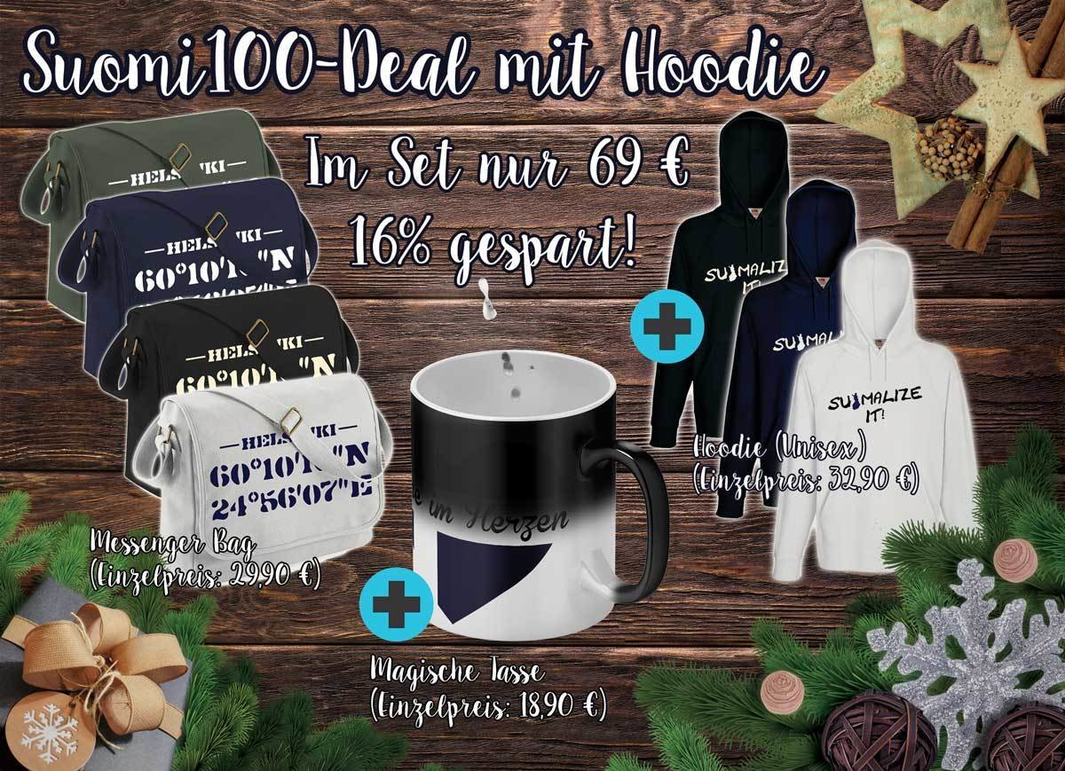 Suomi100-Deal mit Hoodie M1-FT 11207